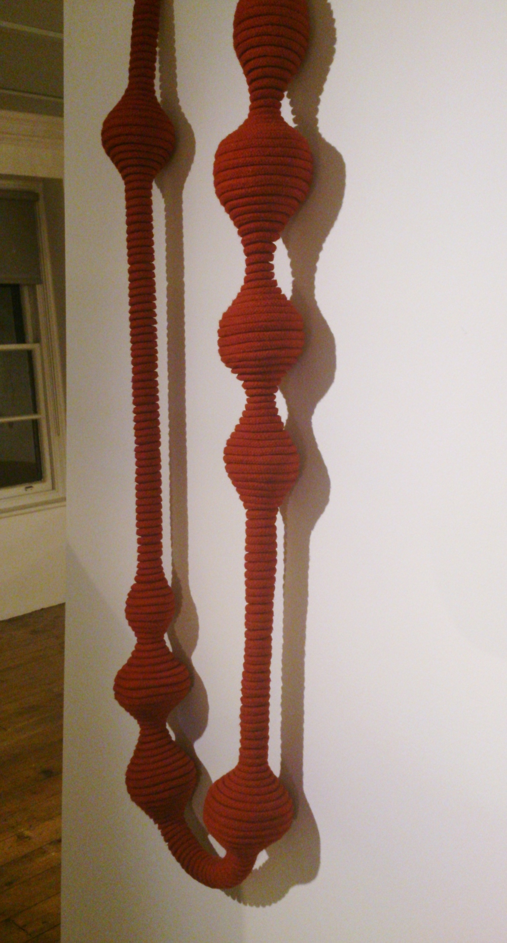 Long Red Coiled Necklace, 2010  Eleanor Bolton