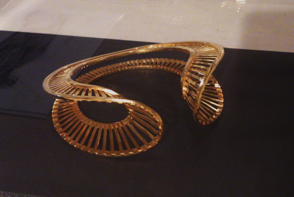 Bangle: The Human Body as a Landscape for Design and Intervention, 2012 Brass with 18ctg gold plating  Stephanie Bila