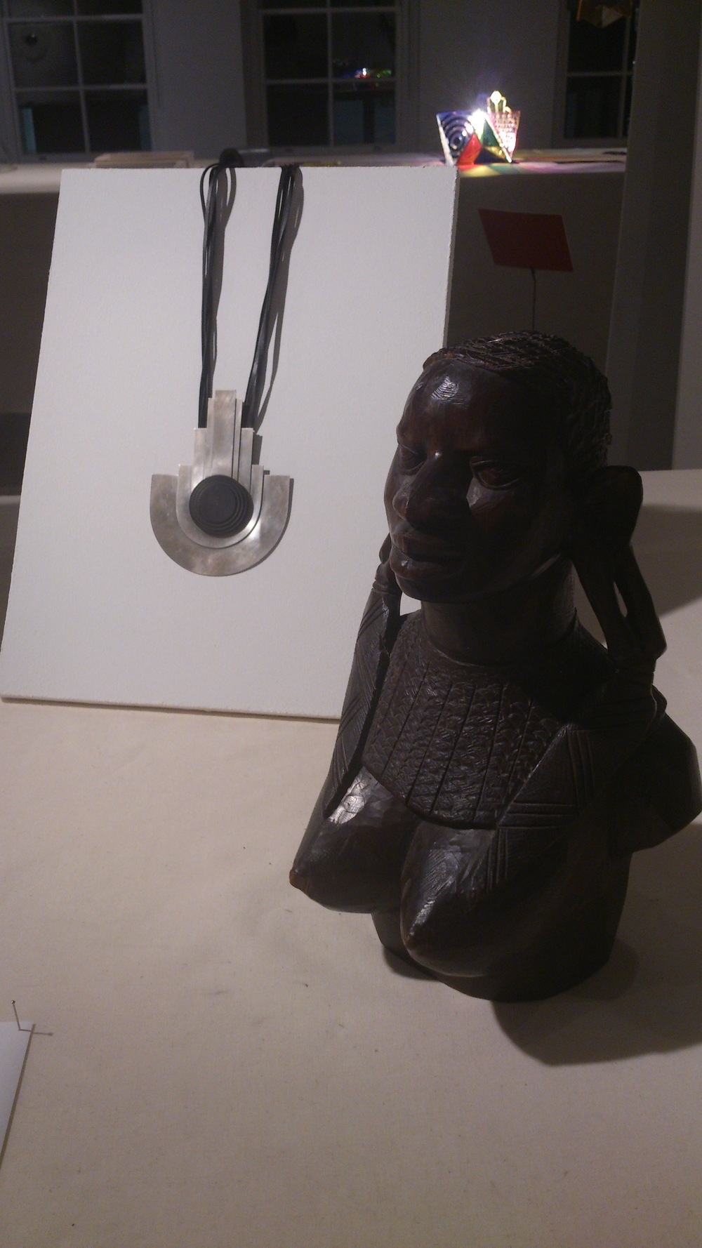 Bust of African Female Carved solid wood