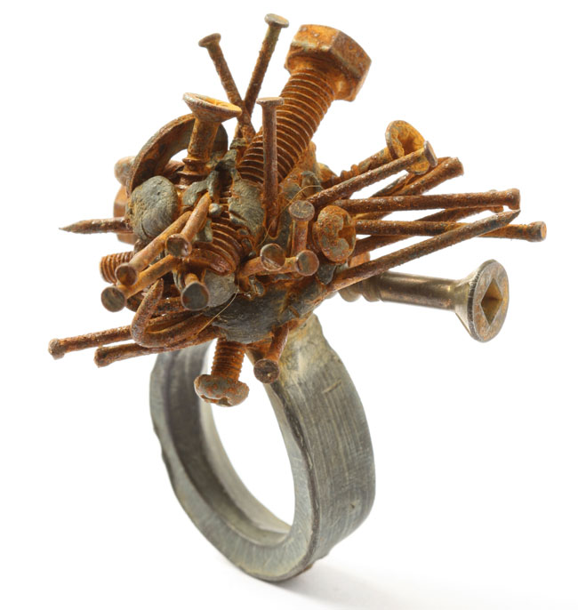 Karl Fritsch Screw ring from Unexpected Pleasures at The Design Museum earlier this year.