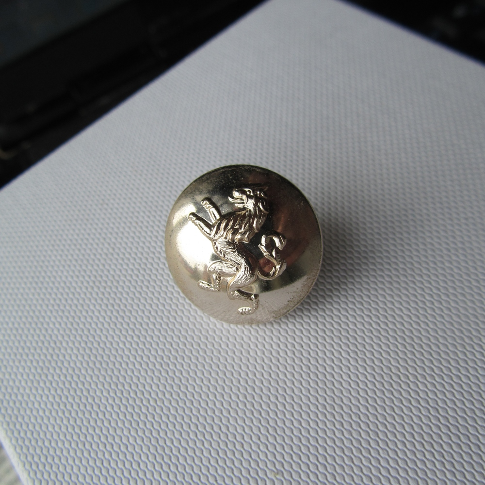 Rampant Lion Button, inspiration for my own creation for the project