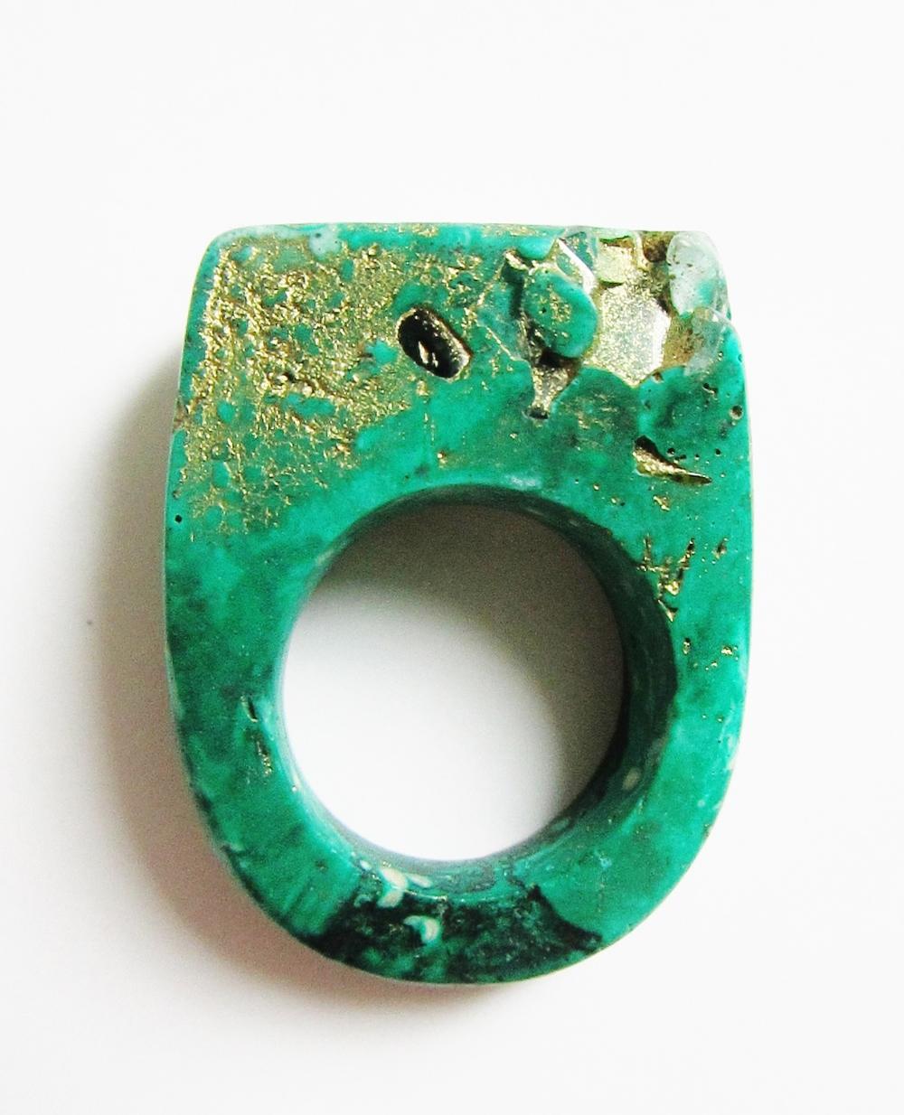 Hewn Ring Malachite Pyrite Jade Mellor.JPG