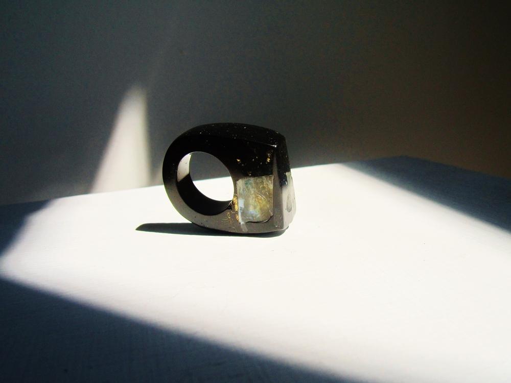 Recent bespoke Iceland Spar ring