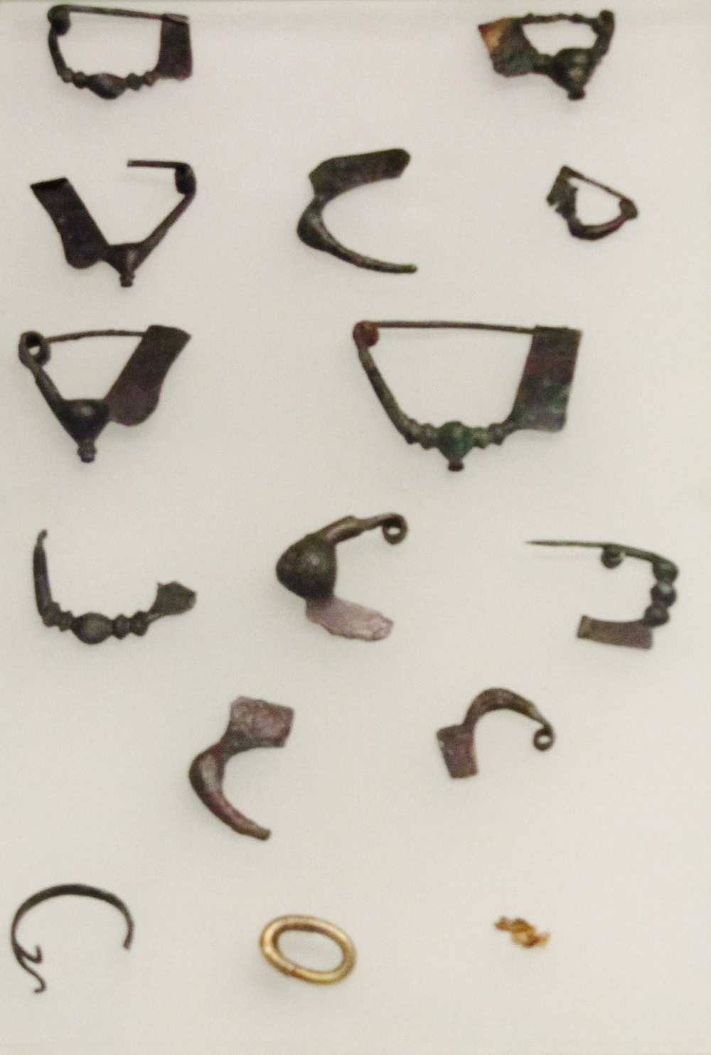 One of my photos from a recent trip to Greece, a collection of ancient Fibulae brooch style   fasteners
