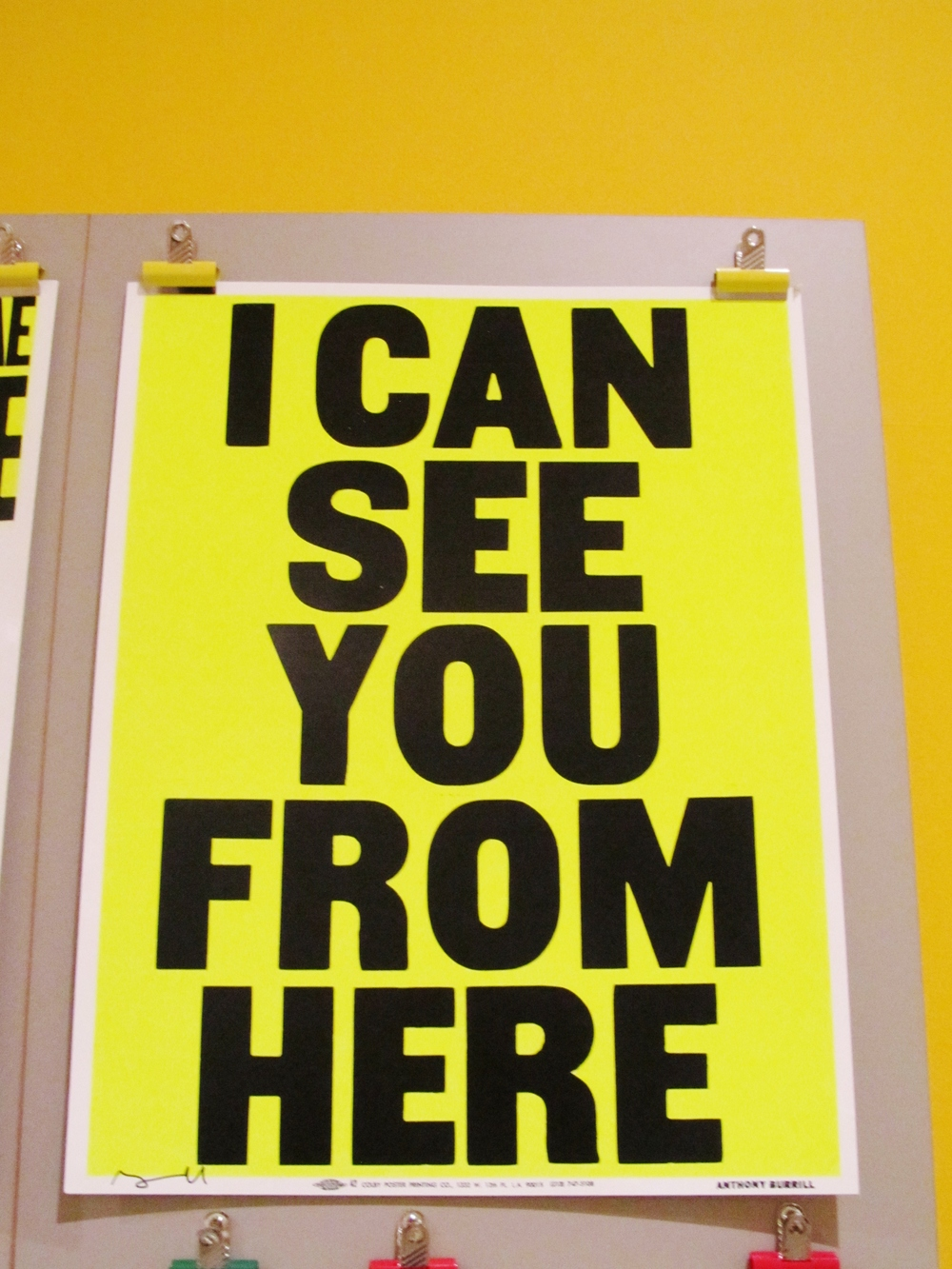 colby see you yellow poster design museum.JPG