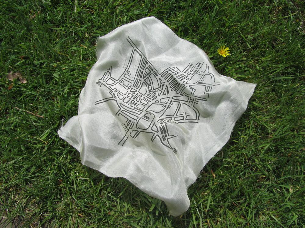 Sarah Bradney's Silk Map