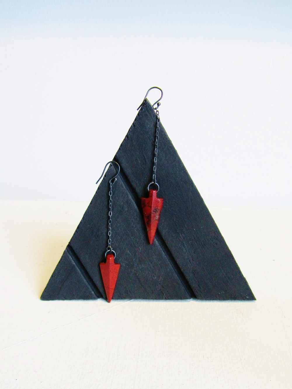 jade mellor red jasper earrings triangle arrowhead.JPG