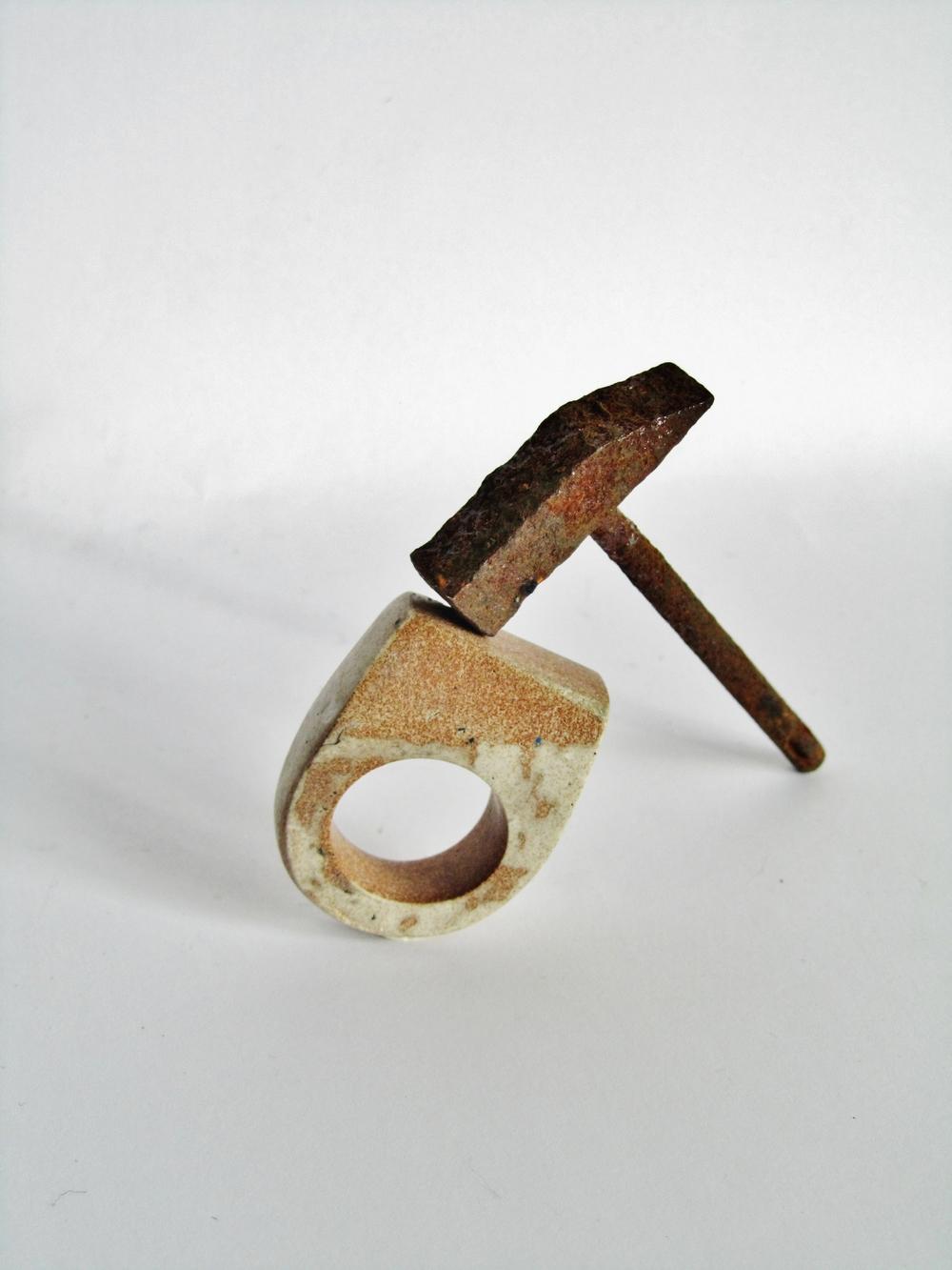 jade mellor rust hammer hewn ring.JPG