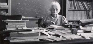"""If a cluttered desk is a sign of a cluttered mind, of what, then, is an empty desk a sign?"" Albert Einstein"