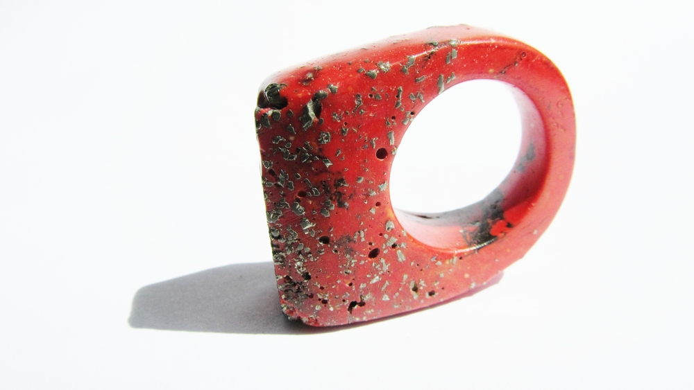 jade mellor hewn ring red black swirl pyrite P-Q 3.JPG