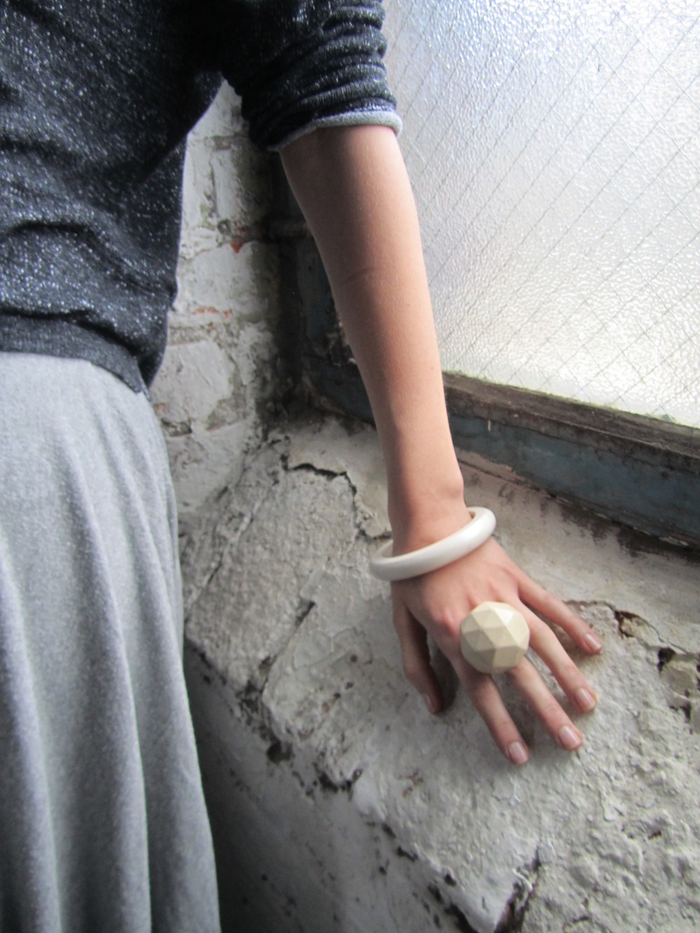 white hedron ring & bangle jade mellor.JPG