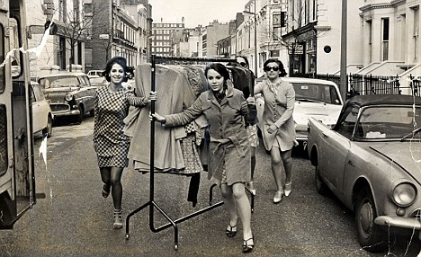A mad dash by Biba staff taking the fashion directly through the city streets as Biba changed premises