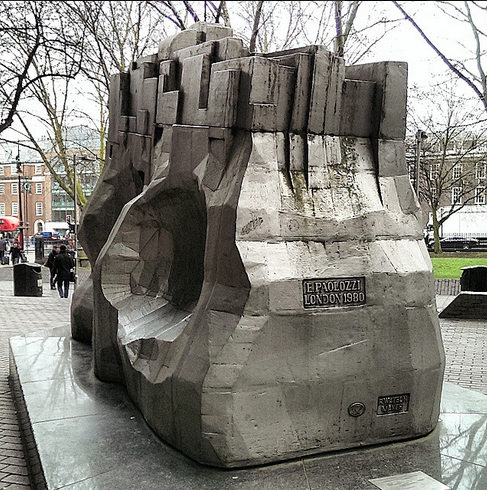 "Piscator, by Eduardo Paolozzi, ""Silvery & enigmatic"" -The Telegraph 2005"