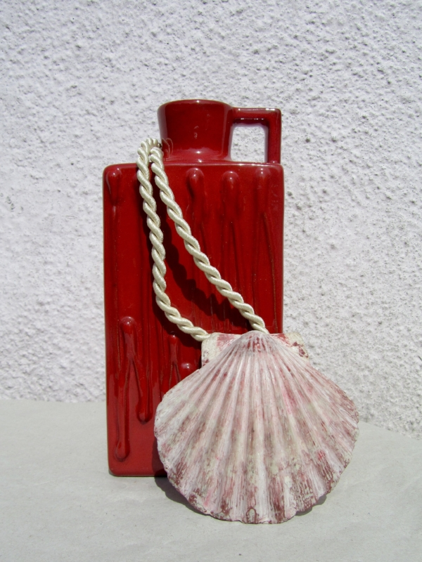Scallop Pendant cast and hand painted in the form of a real shell but more durable in resin