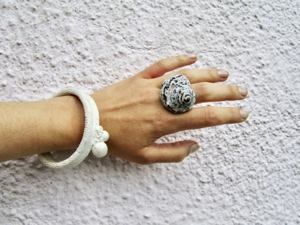"Ring and Barnacle Bracelet from ""Conchology"""