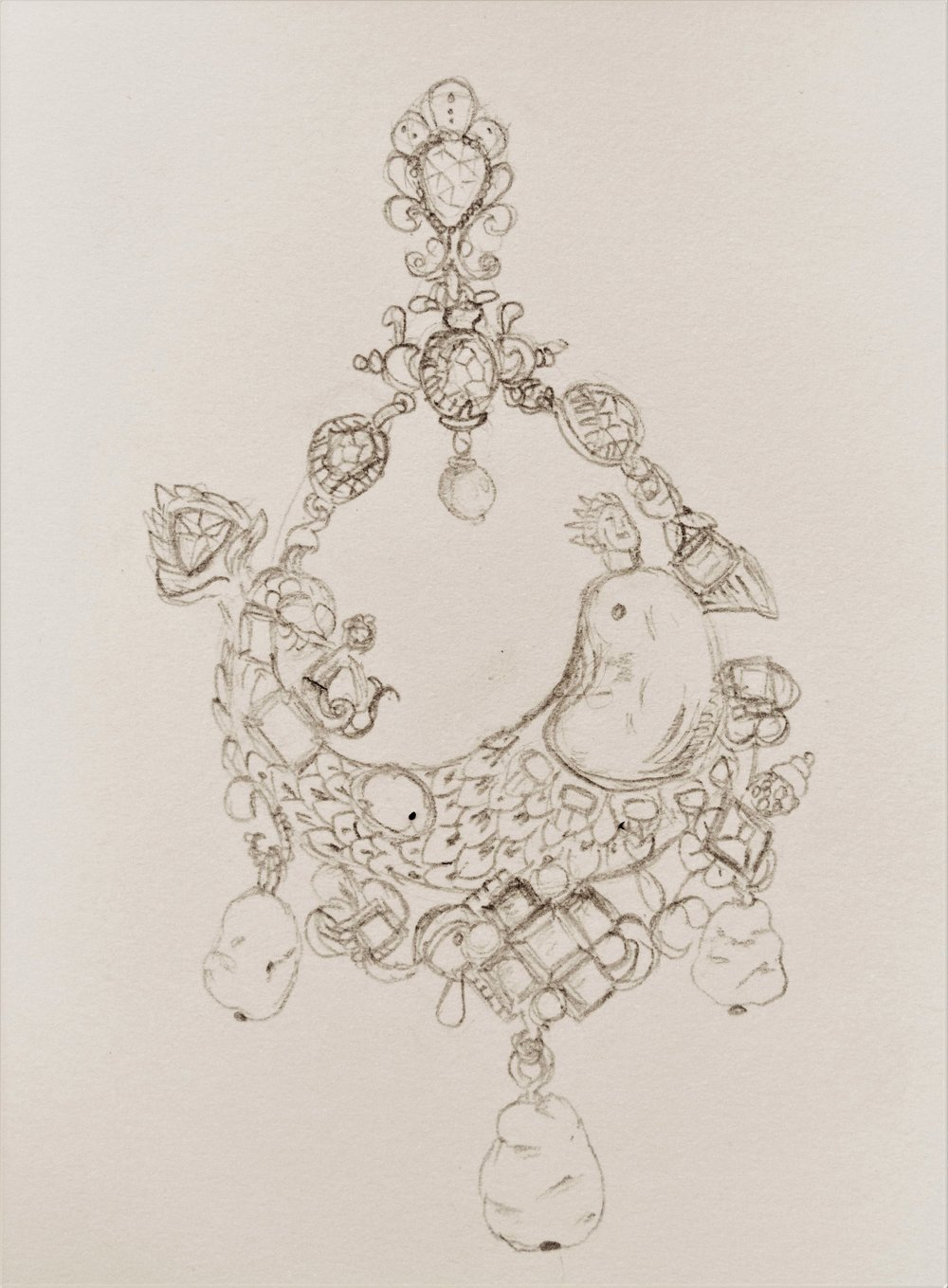 Sketch of pendant detail
