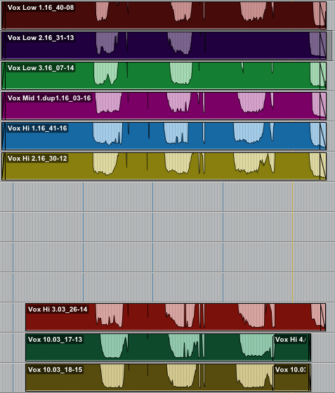 Scan Lines vocal comp, increased amplitude view