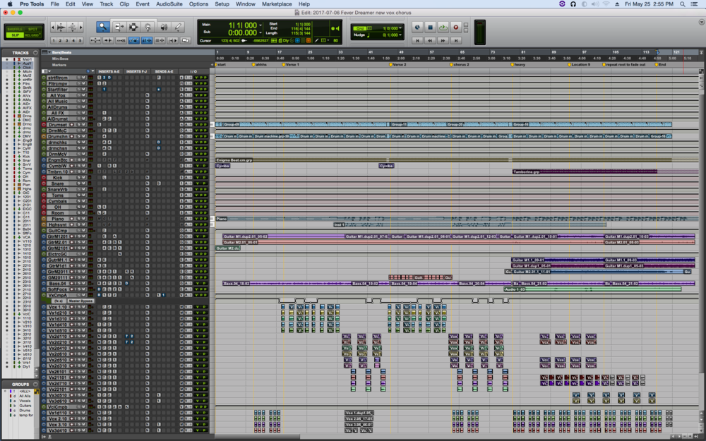 """Fever Dreamer"" finished Pro Tools project"