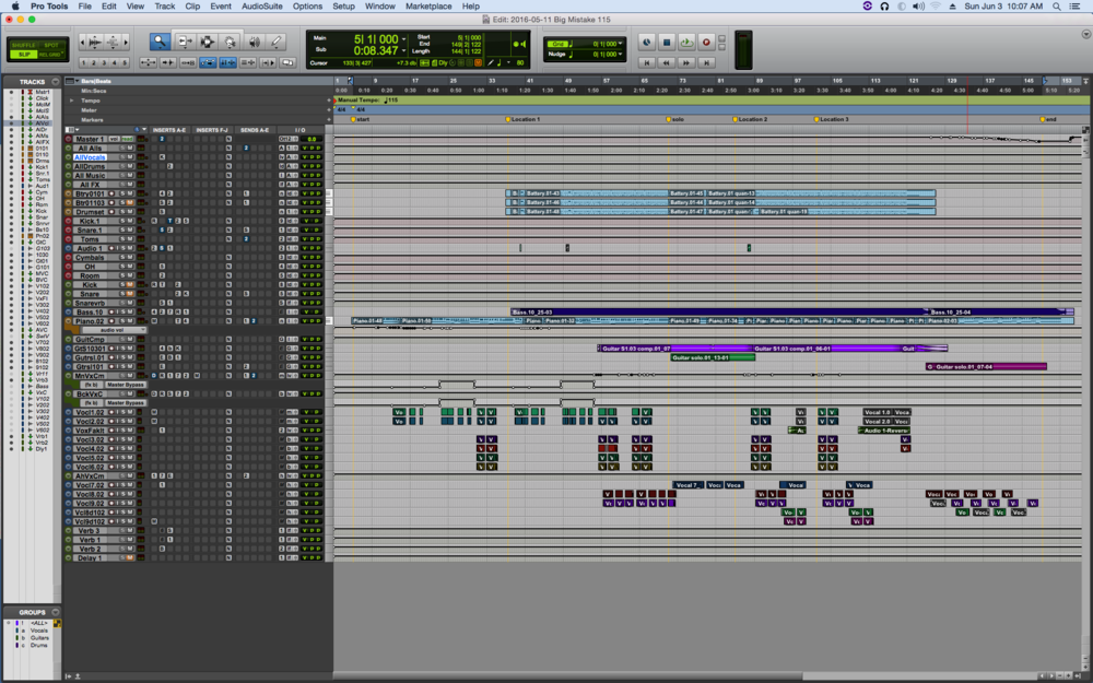 """Big Mistake"" finished Pro Tools project"