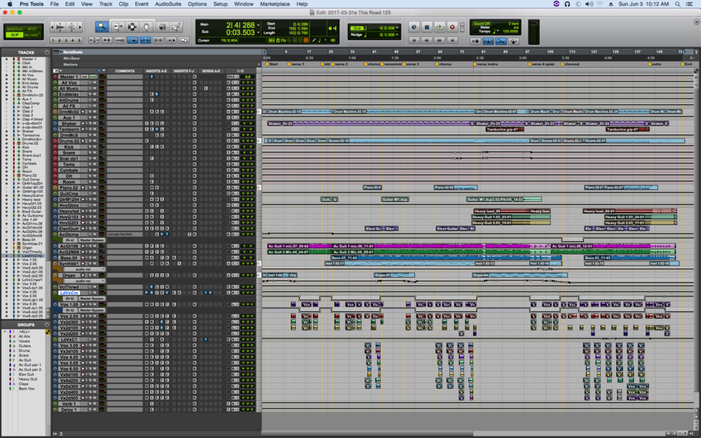 """This Road"" finished Pro Tools project"