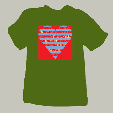 mm heart tee olive