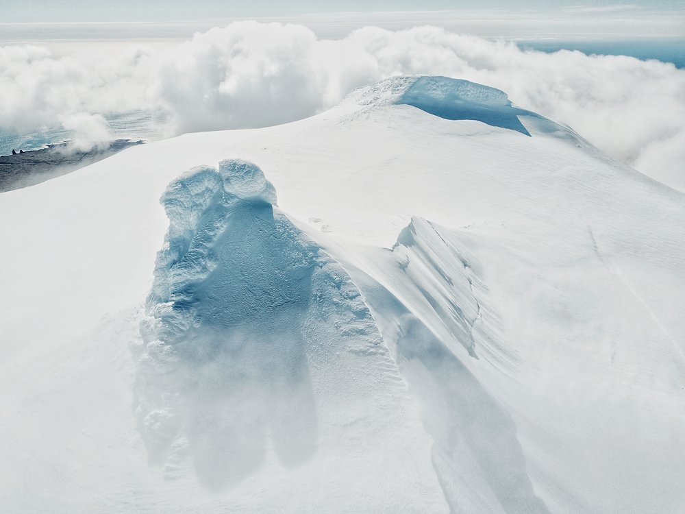 Snæfellsjökull Glacier Summit from above