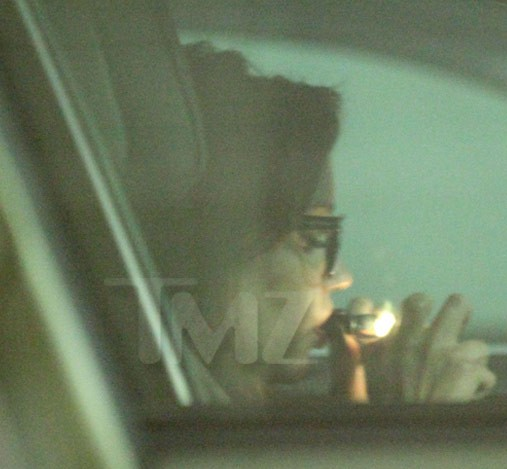 TMZ caught Bynes smoking the reefer and driving. That's safe, right?