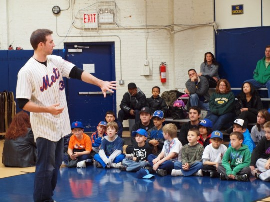 No big deal, he still comes home and hangs out with aspiring baseball players.