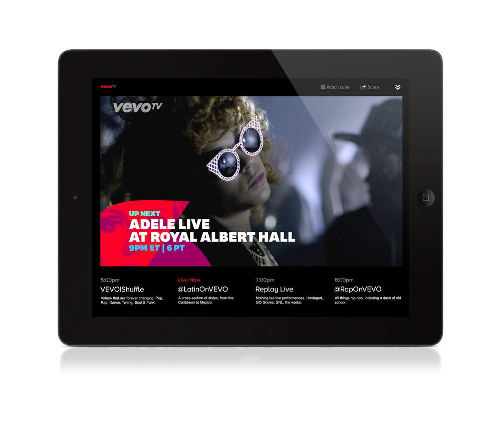 VEVO TV IS ALSO AVAILABLE AS AN APP