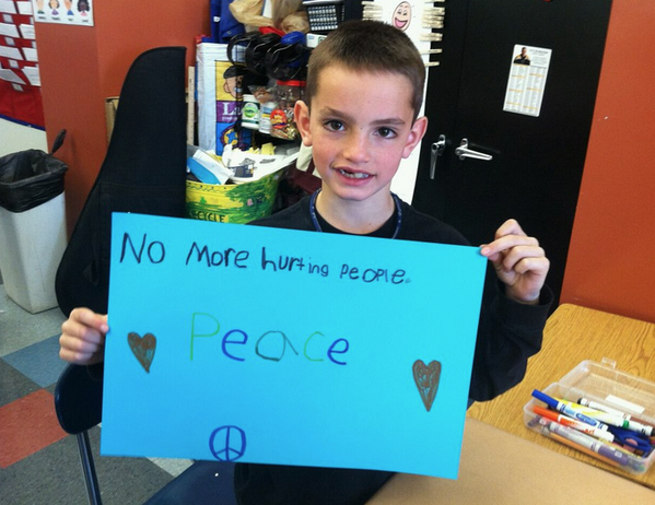 Martin Richard, 8-year-old boy who passed away waiting for his dad at the finishing line. He was one of the three casualties of the explosions.