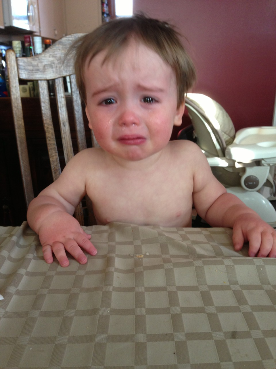 I have no idea why my son is crying.