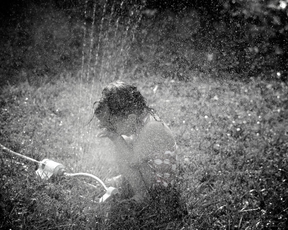 """Sprinkler"" - Photograph, July 2017, Model - Violette Belle Benson, Photographer - Christa Belle"