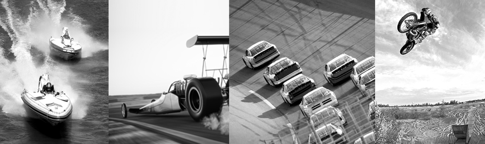 Motorsports Insurance Programs for oval, drag, go-kart, motocross and road courses and boating.