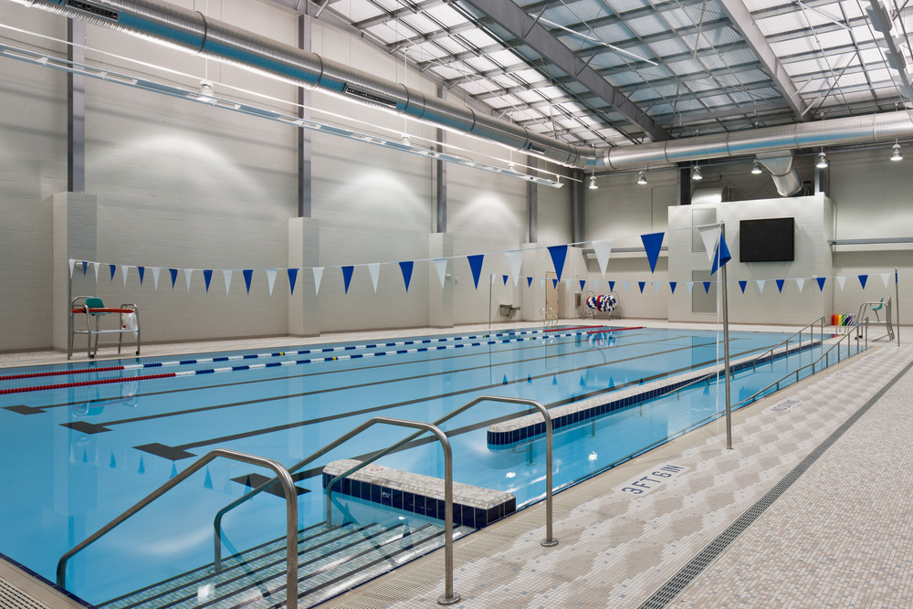 Spire institute aquatic center lighting case study for Pool design engineering