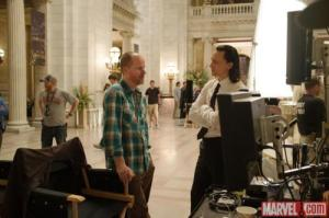 The Avengers filming in the Cuyahoga County Courthouse