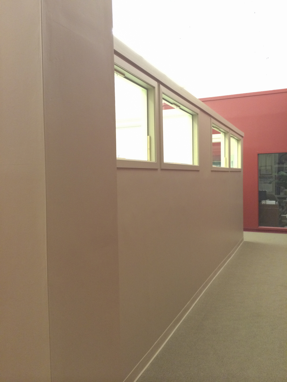 Back wall of office pods