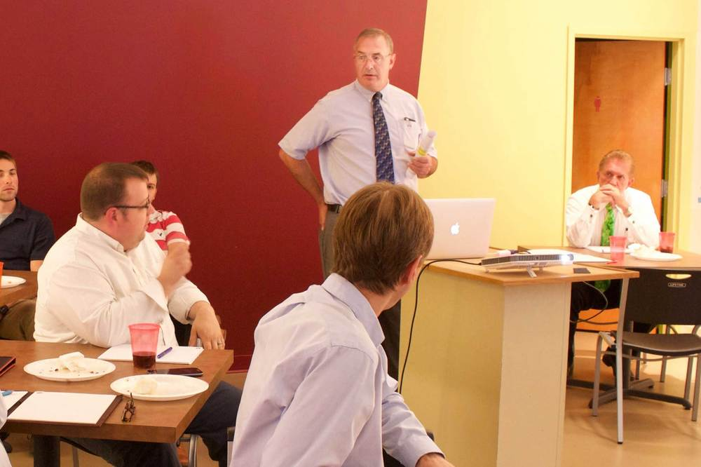 Kelley Moran leads a class on Engineering Ethics during Tec University, an in-house continuing education program.