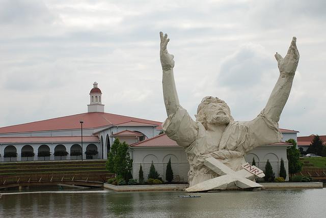 Megachurch Jesus Statue