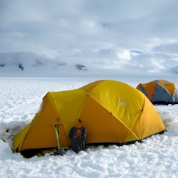 Glacier camp.  Photo:  B. Partan