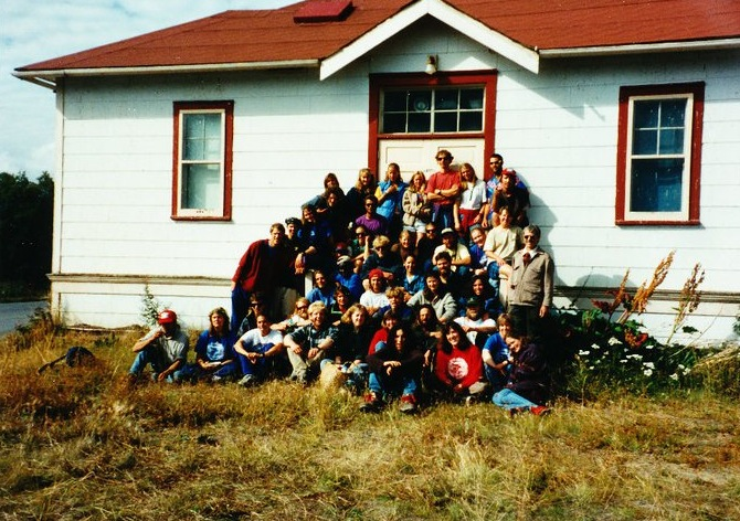1995 JIRP crew at Camp 30 (Atlin, BC), August 1995.  Photo:  M. J. Beedle