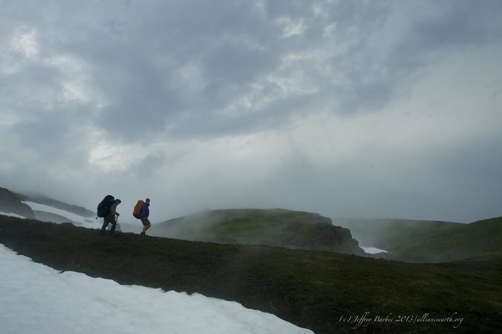 Descending into Ptarmigan Valley. Photo: J. Barbee