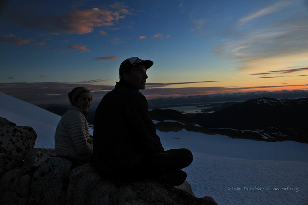Chrissy McCabe and Grayson Carlile enjoy the view from Camp 17.  Photo:  Mira Dutschke