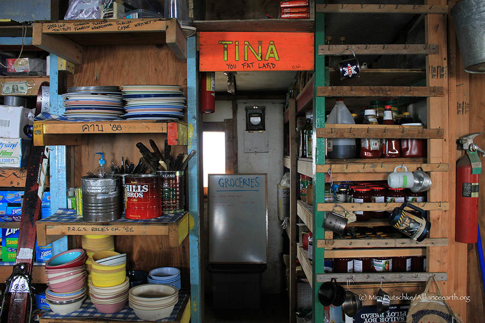 The pantry (known as Tina) in the Cook Shack at Camp 17.  Photo:  Mira Dutschke