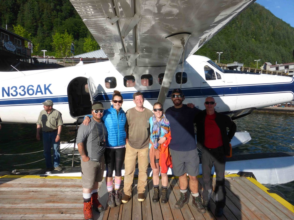 Group shot, left to right: Salvatore G. Candela, Brooke Stamper, Scott McGee, Sarah Mellies, Patrick Englehardt, and Uwe Hofmann, ready to board the plane and excited to leave. Photo credit: Brooke Stamper