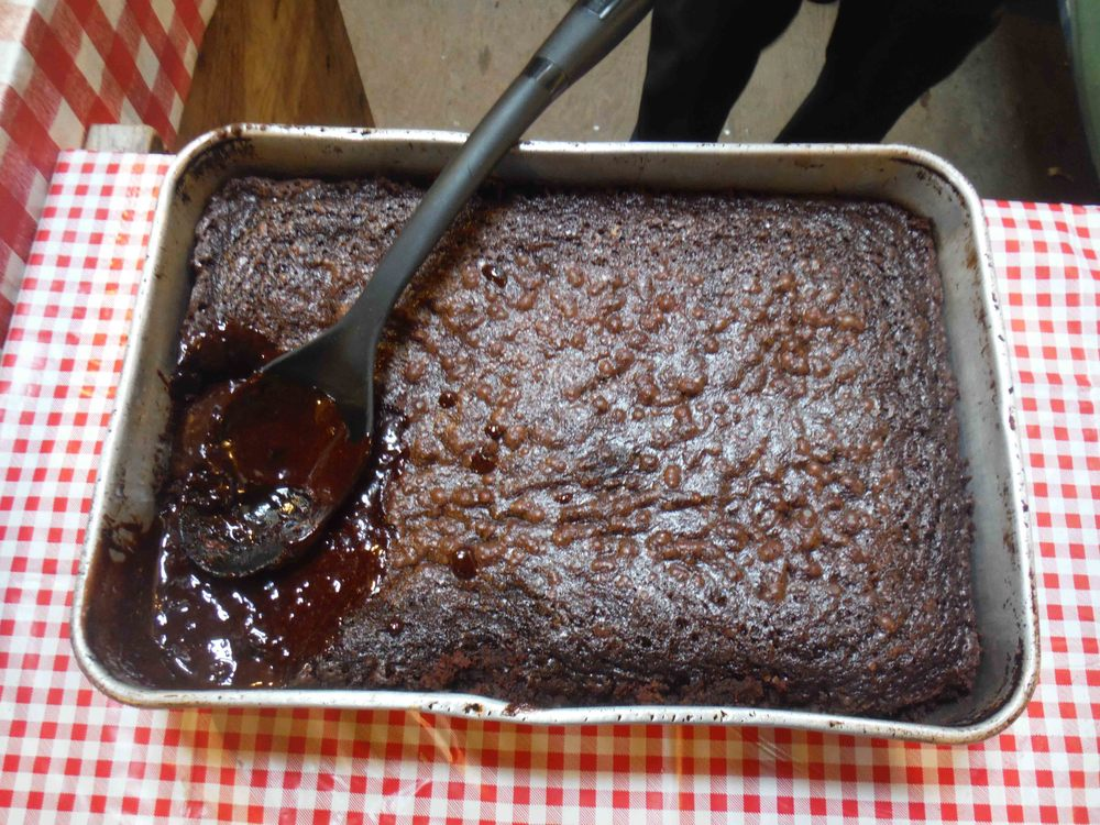 Ewwy, gooey, yummy brownies!   Photo by Sarah Bouckoms