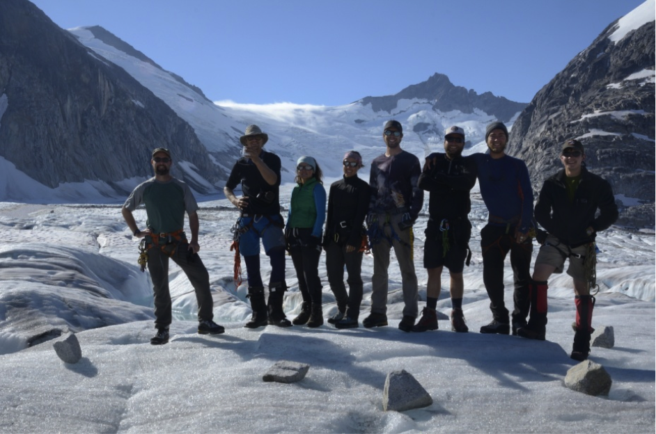 The 2013 Gilkey Trench Crew (left to right): Jeff Kavanaugh, Jeff Barbee, Justyna Dudek, Jamie Bradshaw, Adam Toolanen, Adam Taylor, Jon Doty and William Jenkins. Photo by Jeffrey Kavanaugh