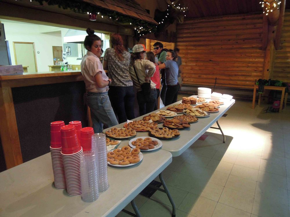 Yum Yum! Lots of cookie eating after the talks. Photo by Stephanie Streich.