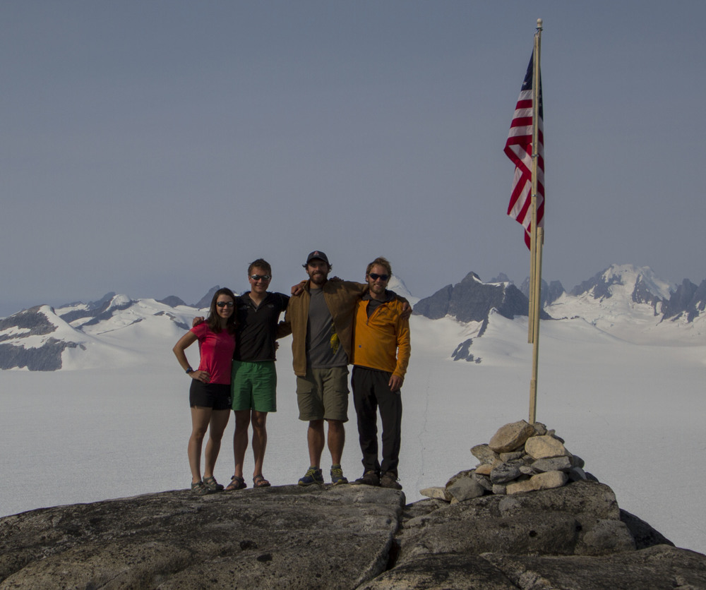 The 2013 NASA Alaska Space Grant awardees are (from left to right) Jamie Bradshaw, Grayson Carlile, Patrick Englehardt, and Jonathan Doty. Not pictured: Sarah Mellies.  Photo by Adam Taylor.