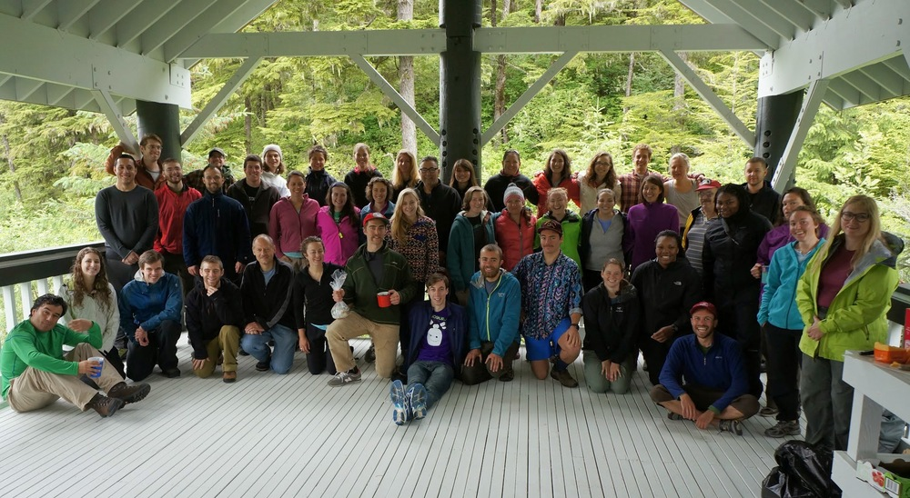 Participants of JIRP 2014 at the University of Alaska Southeast campus. (Photo by: Alexandre Mischler)