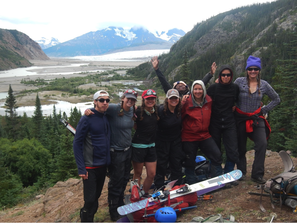 The team says one last goodbye to the Juneau Icefield (Photo By: Matt Pickart)!